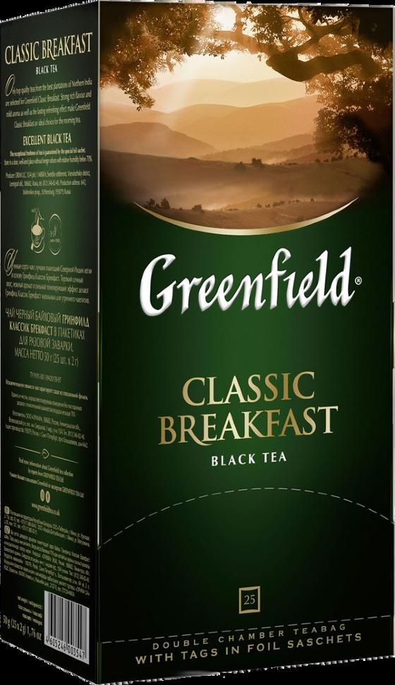 чай гринфилд классик брекфаст